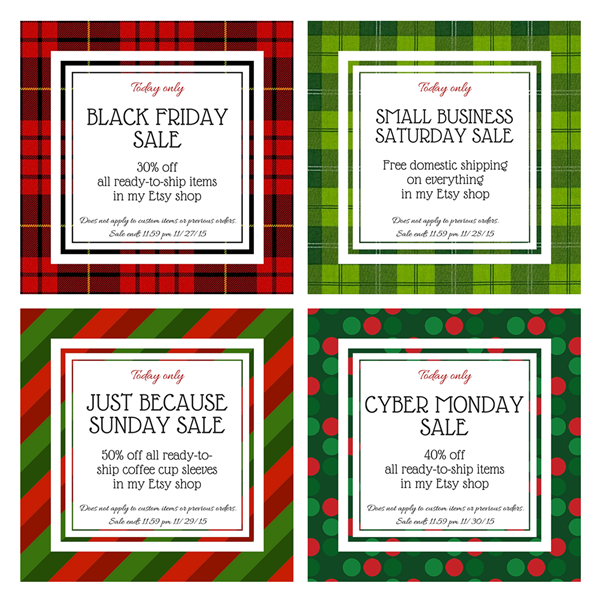 Black Friday Weekend Sales at CraftyStaci on Etsy
