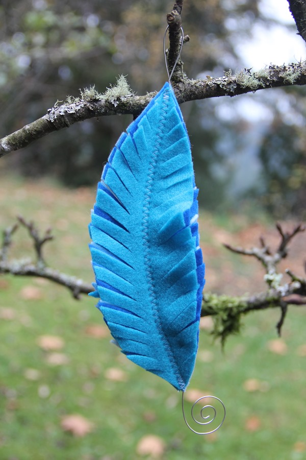 Blue Feather Ornament from Crafty Staci