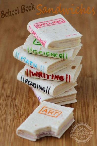 School Book Sandwiches from Kids Activities Blog