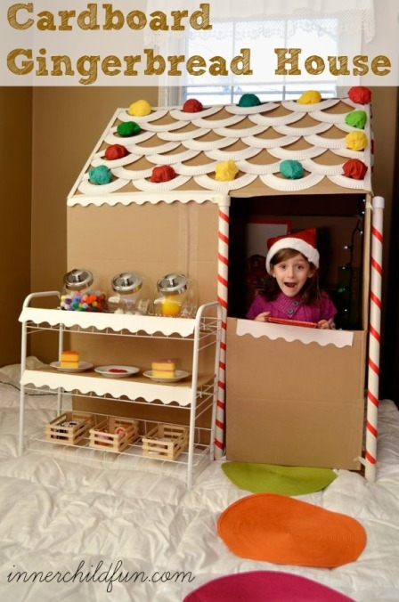 Cardboard Life Size Gingerbread House from Inner Child Fun