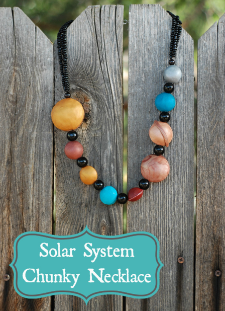 Solar System Chunky Necklace from Whistle and Ivy
