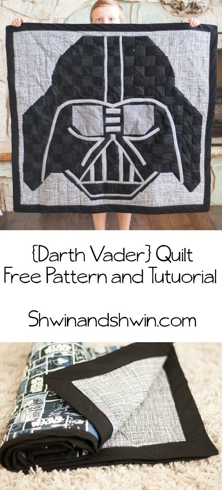 Darth Vader Quilt from Shwin and Shwin
