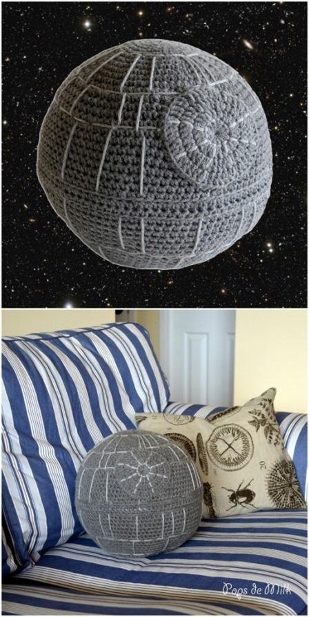 Death Star Cushion from Pops de Milk