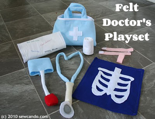 Felt Doctors Play Set from Sew Can Do