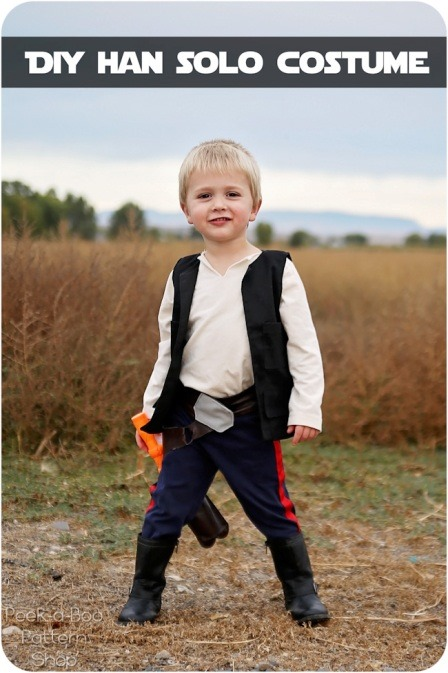 Han Solo Costume from Peekaboo Pages