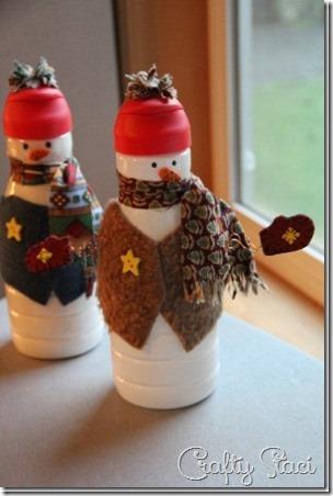 3奶精瓶雪人
