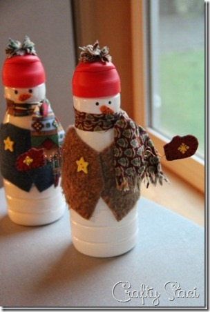 3 Creamer Bottle Snowman