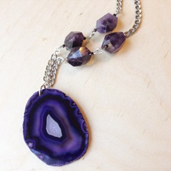 Agate Slice Necklace from LovelyRustic