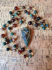 Arrowhead Rosary Necklace from SirenDesignsByNikki