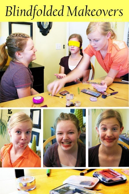 Blindfolded Makeovers from Brassy Apple