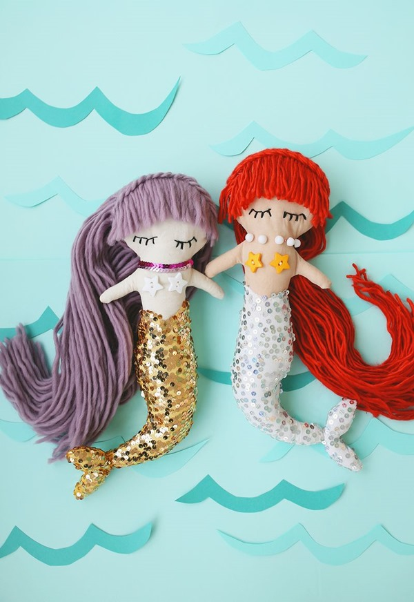 Mermaid Plush Dolls from A Beautiful Mess