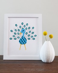 Blue Peacock Art Print from MKennedyDarling