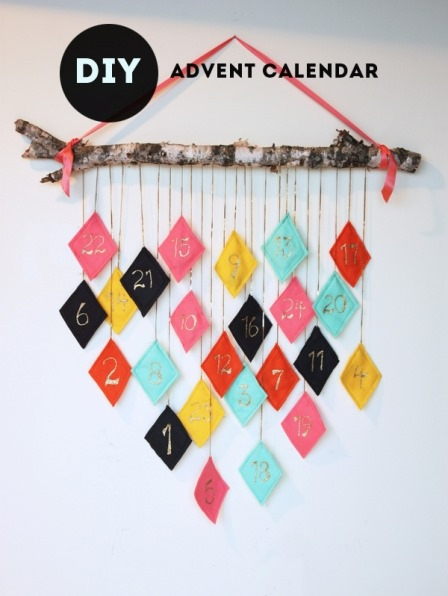 Modern Advent Calendar from The Sweet Escape