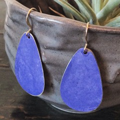 Brass Teardrop Earrings from HanawearJewelry