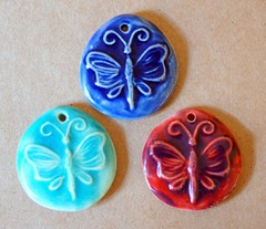 Ceramic Butterfly Beads from beadfreaky