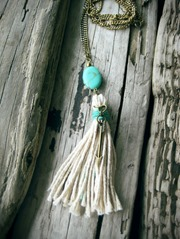Cotton Tassel Necklace from KittyLovesLou