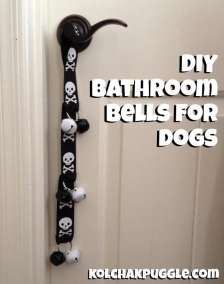 DIY Bathroom Bells for Dogs from Kol's Notes