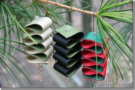 7 Ribbon Candy Ornaments