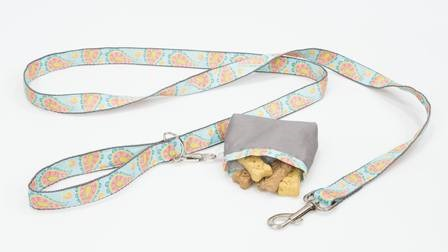 Dog Leash and Treat Bag from Professor Pincushion