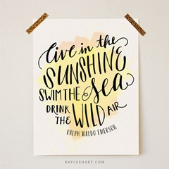 Drink the Wild Air Print from Whimseyand Wanderlust