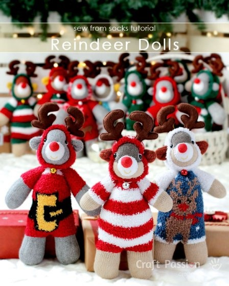 Sock Reindeer from Craft Passion