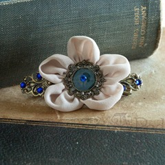 Flower Barrette from ARedThreadDesigns