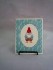 Garden Gnome Stitched Card from HMCrafters