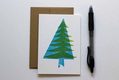 Letterpress Tree Notecard from TigerFoodPress
