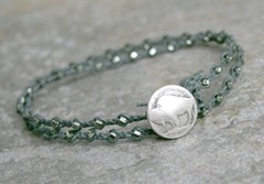 Men's Silver Buffalo Bracelet from AhteesDesigns