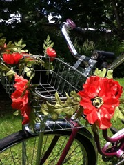 Poppy Bike Basket Garland from piggyflowers