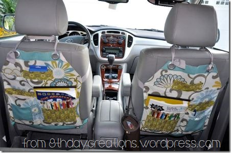 Car Seat Organizer from 8th Day Creations