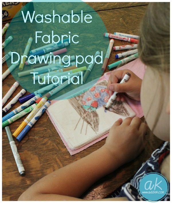 Washable Fabric Drawing Pad from Addie K