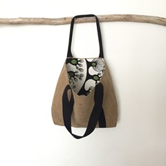 Recycled Burlap Tote from BurlapRoseStudio