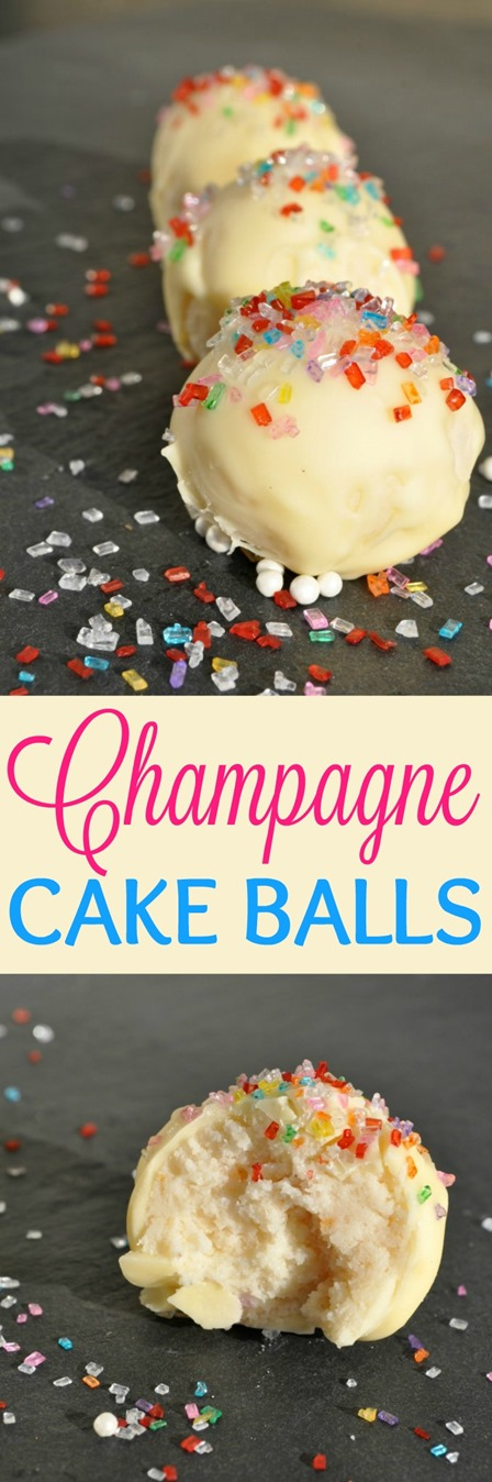 Champagne Cake Balls from The Seasoned Mom
