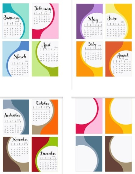 Colorful Calendar from Scrappy Sticky Inky Mess