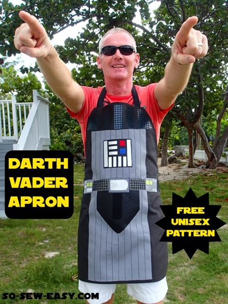 Darth Vader Apron from So Sew Easy
