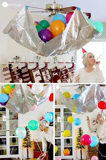 DIY Balloon Drop from One Good Thing by Jillee