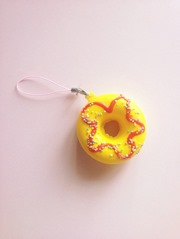 Strawberry Lemonade Rainbow Donut Squishy from HoneyMilkTeaCafe
