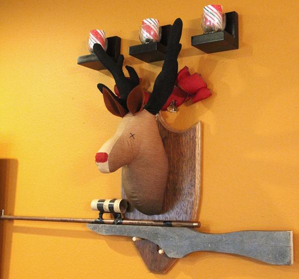 Fabric Rudolph Head