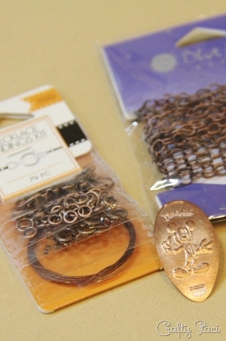 Supplies to make pressed penny bracelet