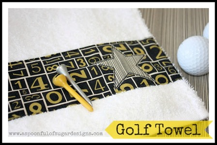 Golf Towel from A Spoonful of Sugar