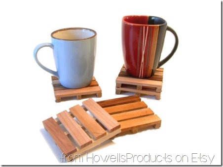 Pallet Coasters from HowellsProducts on Etsy