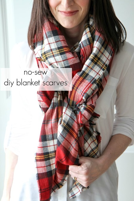 No Sew Blanket Scarf from Mom Advice