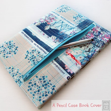Pencil Case Book Cover from Made by Chrissie D