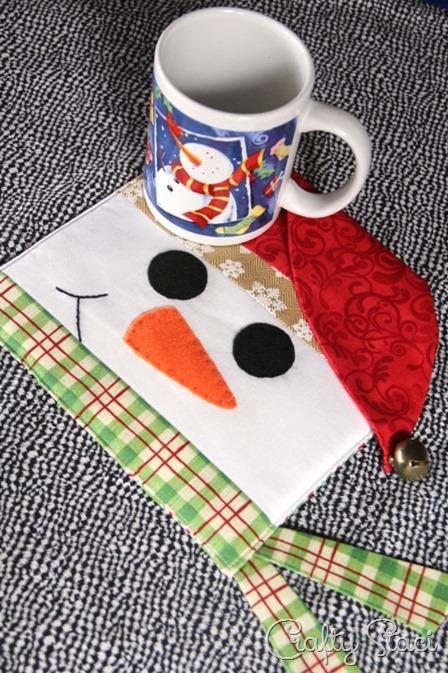 Snowman Hotpad from Crafty Staci