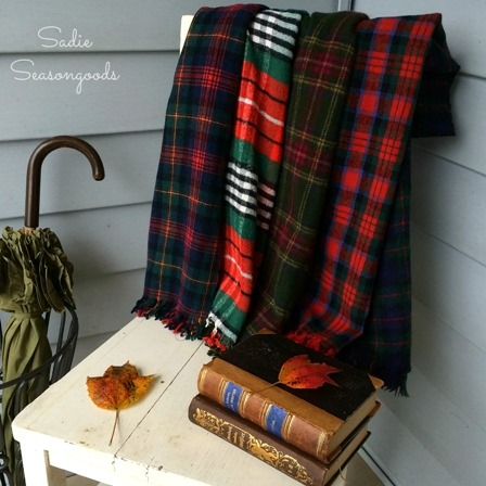 Throw Blanket Using Wool Scarves from Sadie Seasongoods