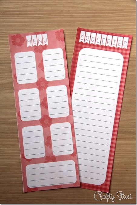 Shopping List and Menu Pad - Crafty Staci