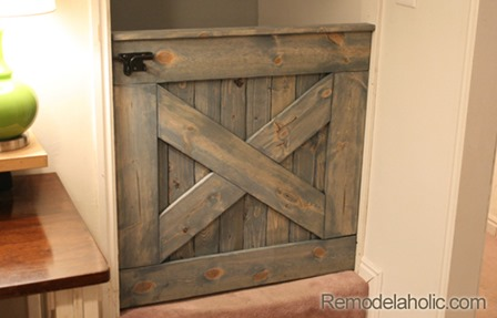 Barn Door Baby Gate from Remodelaholic