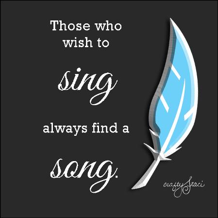 那些想唱歌的人总会找到一首歌
