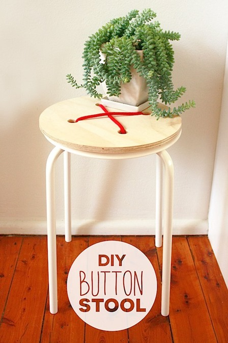 Button Stool from Make Zine